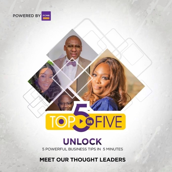 FCMB Top 5-in-5 Masterclass A Review.   The Top 5-in-5 Masterclass is a web series aimed at helping business owners run successful and sustainable