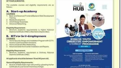 DELTA STATE 2021 ICT-YOUTH EMPOWERMENT PROGRAMME (ICT-YEP)