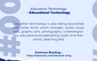 FabReads Digest with Education – 001 – Educational Technology