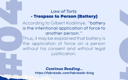 FabReads Digest with Law – 048 (Trespass to Person – Battery)