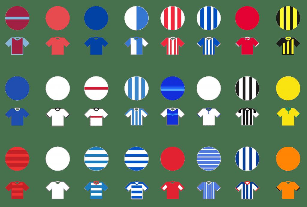 Pundit Club app shirt designs EFL Championship