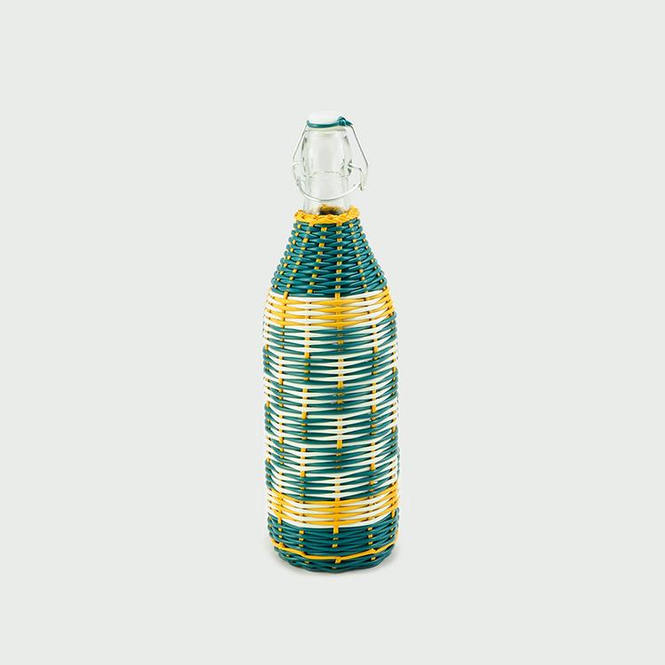 botellas trenzadas scoubidou vintage fabricadeimaginacion5