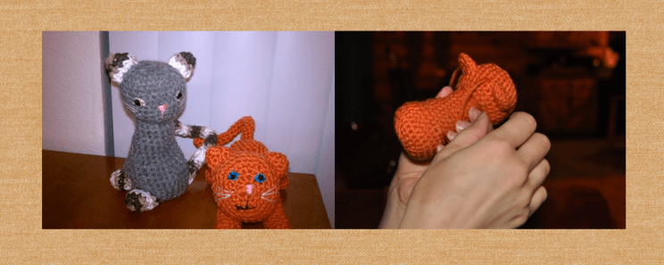 Crocheted Cats (purchased pattern)