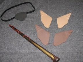 Eyepatch, elf ears, and wand