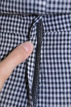 Close-up of metal zipper