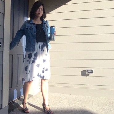 "Skirt refashioned from ""bubble dress"""