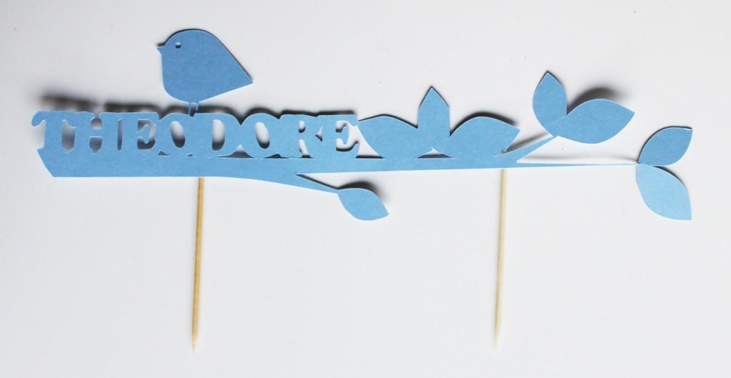 toppers pour gateau-prenom-oiseau-bapteme