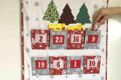 The Big Pocket Advent Calendar sewing pattern with pockets big enough to hold treats for the whole family by fabricandflowers | Sonia Spence