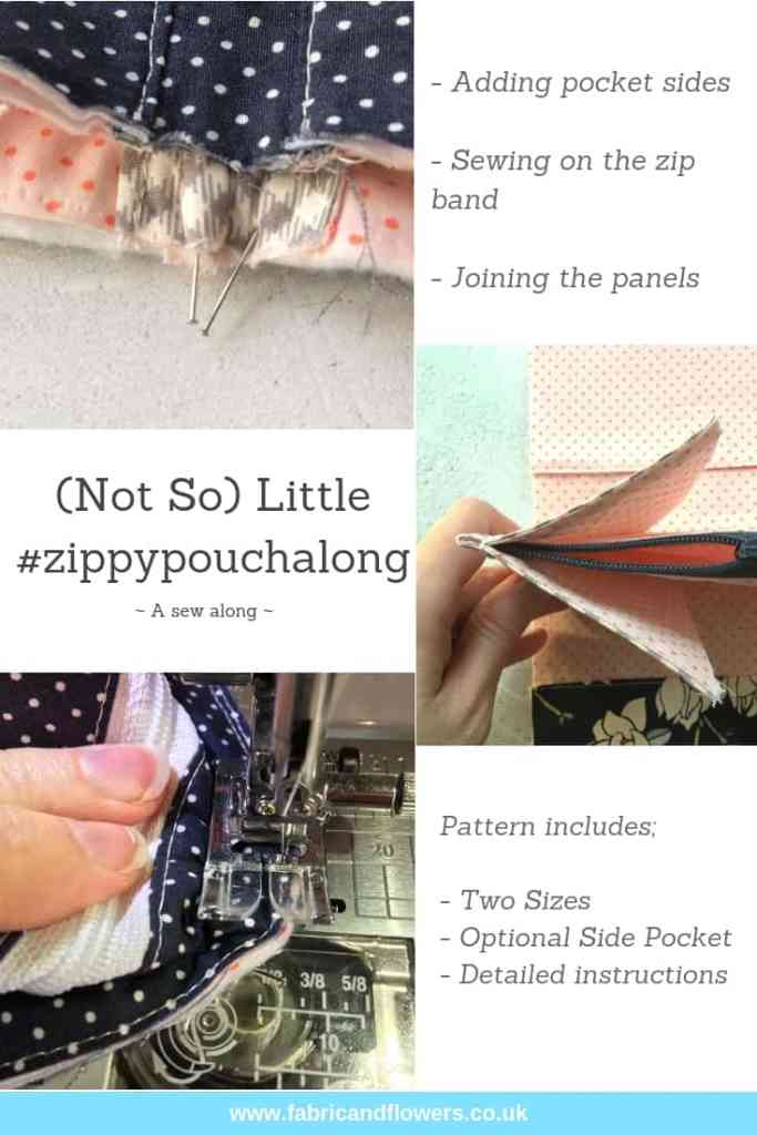 Zippy Pouch Along - joining the (Not So) Little Zippy Pouch together, pattern by fabricandflowers | Sonia Spence