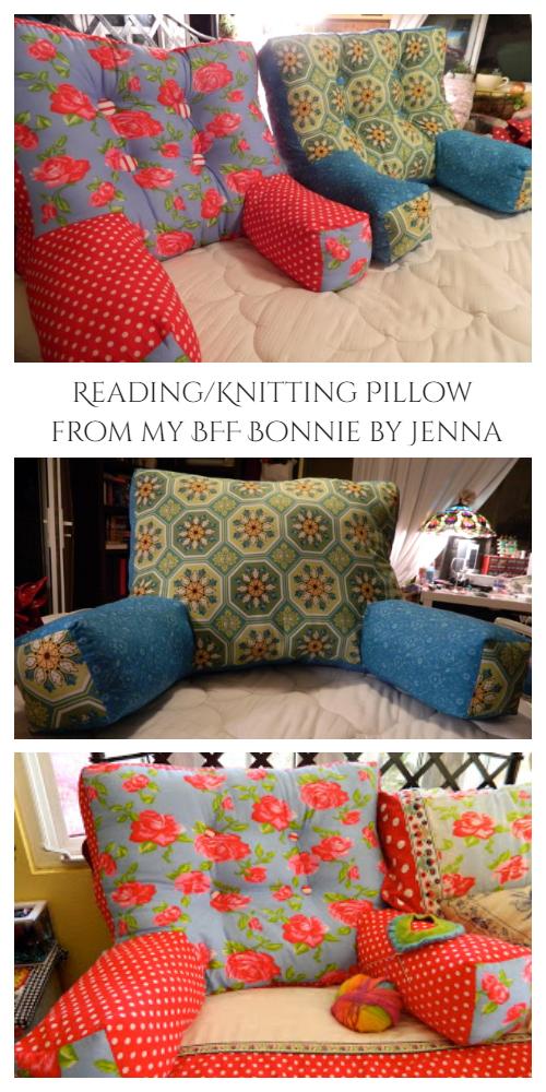 diy reading pillow free sewing pattern