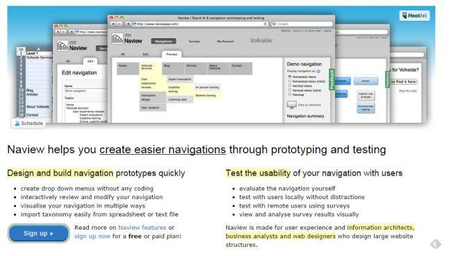 Naview pour créer des architectures de site
