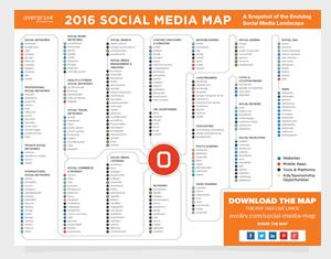 Tous les réseaux sociaux sur une carte interactive | version 2016