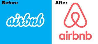logo airbnb avant après