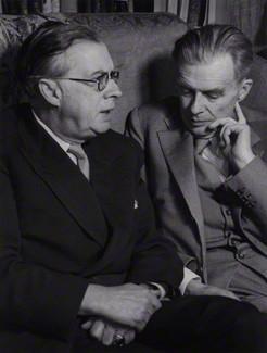 NPG x12105; Sir Julian Sorell Huxley; Aldous Huxley by Wolfgang Suschitzky