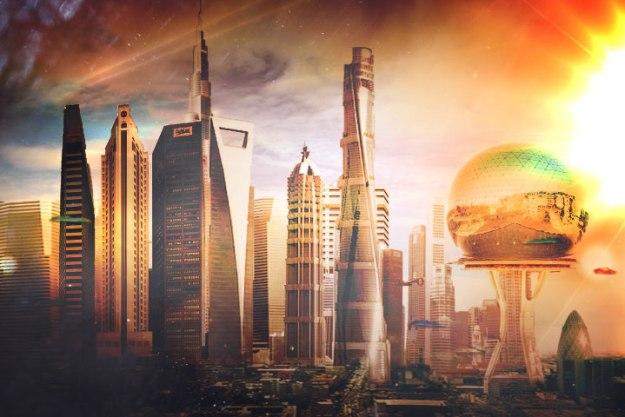 What will life be like in the 22nd century? Help dream up a better world and build a City of the Future. Art by Boombastik3 via Deviant Art.