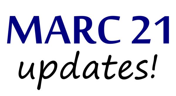 Atualizações nos Formatos MARC 21 (novembro de 2016)