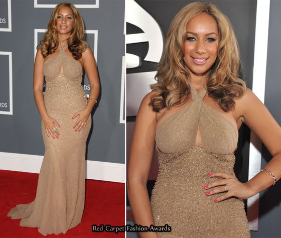 Not a good nude for Leona Lewis (at the Grammys)
