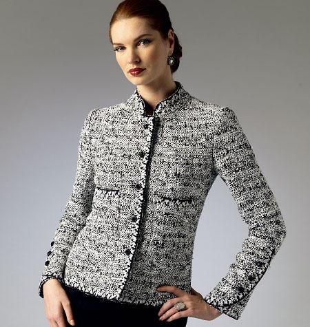 Chanel-type cardigan jacket