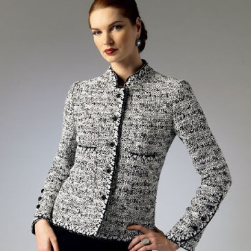 Chanel-type cardigan jacket