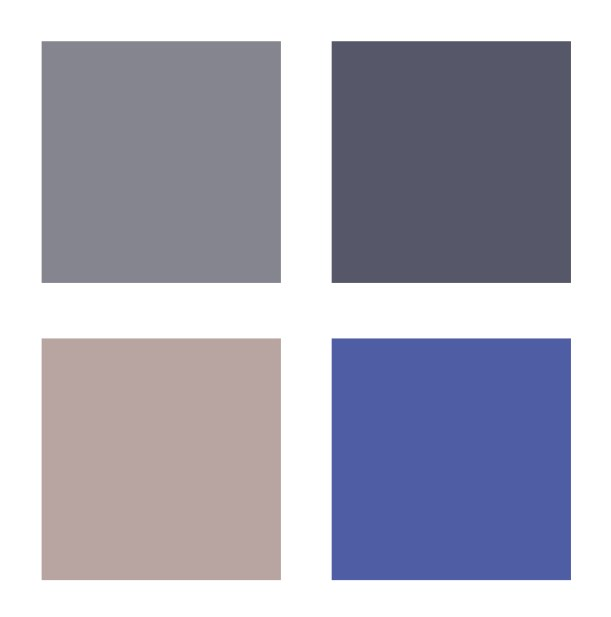 Muted neutral colour palette