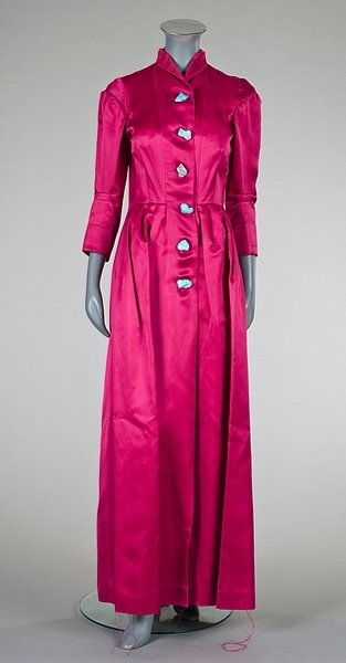 shocking pink full length Schiaperelli coat