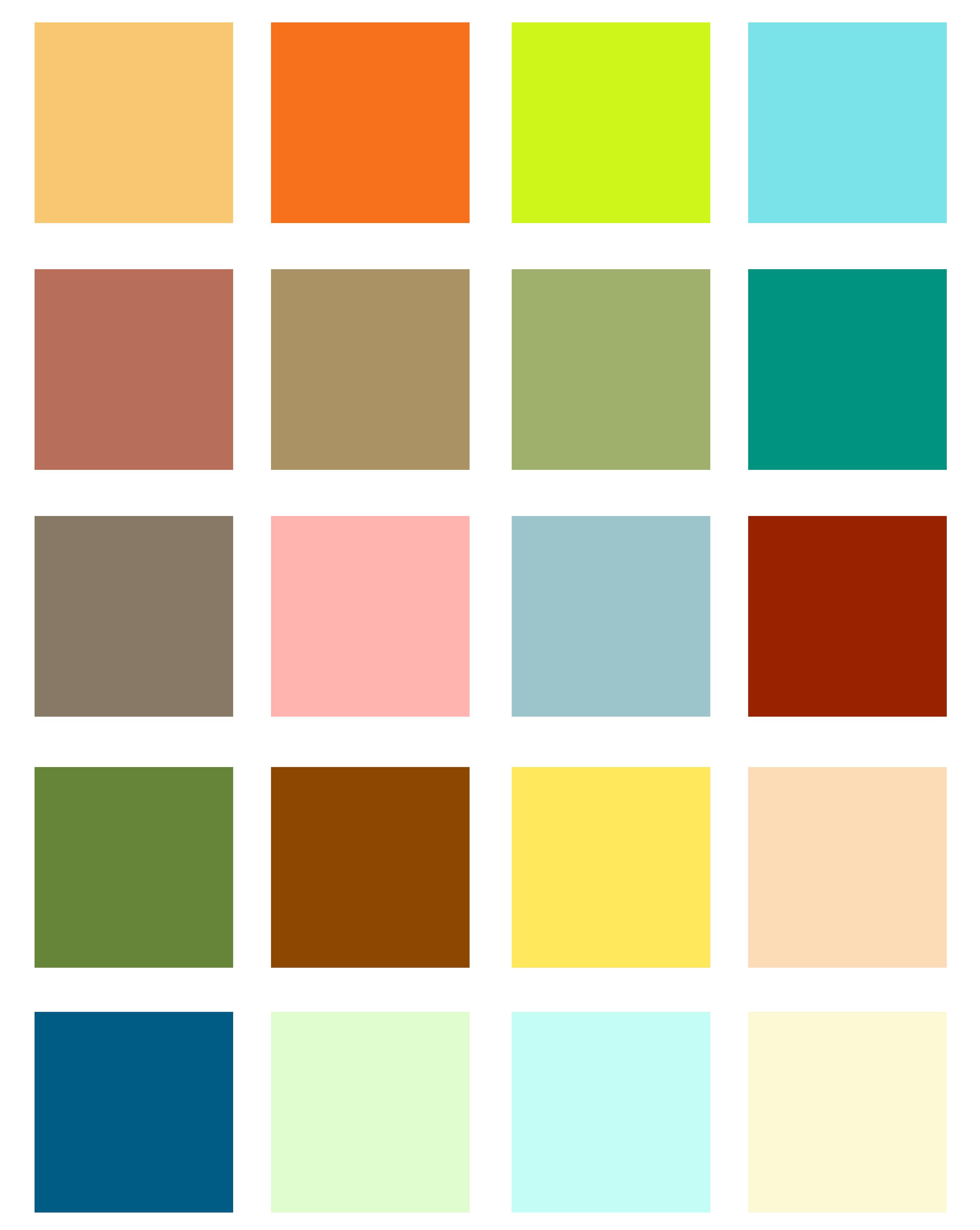 Warm colour direction