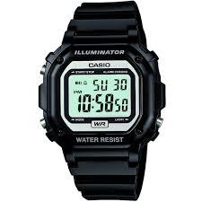Black plastic digital watch