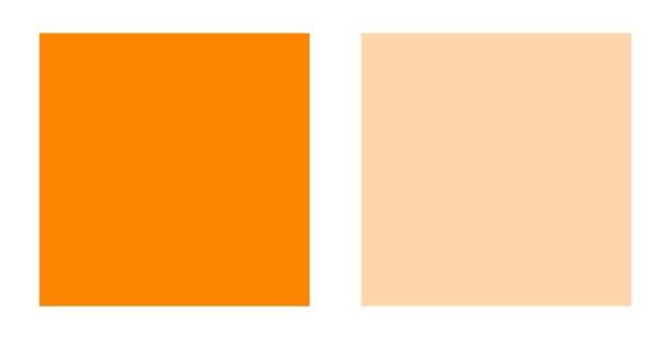 Deep and Light orange palette