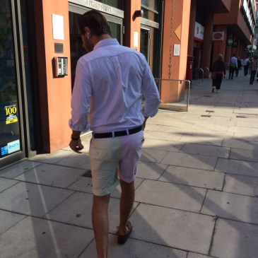 Men in shorts – for work?