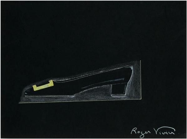 Design for a Pilgrim shoe, Roger Vivier, 1964