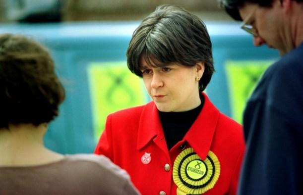 Nicola Sturgeon campaigning