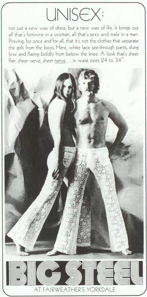 1970s article on Unisex dressing