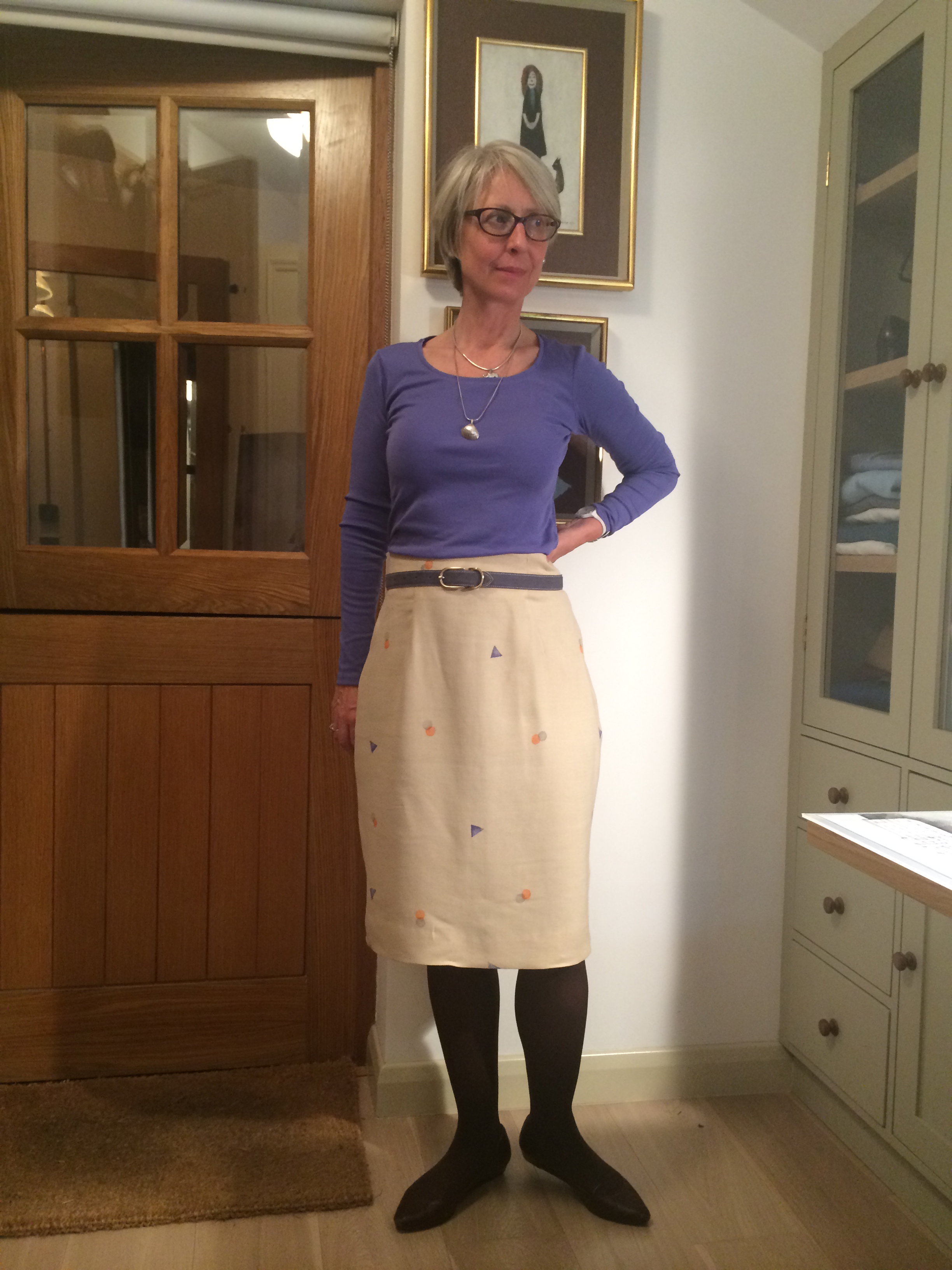 More trouser experiments – making trousers from the Curvy Pencil skirt pattern