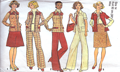 Vintage sewing pattern featuring set in sleeves