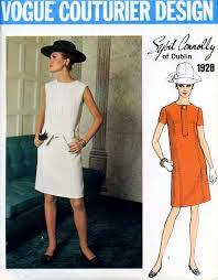 pattern for 1960s shift dress