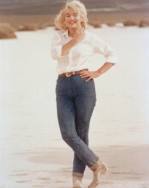 Marilyn Munroe in Jeans