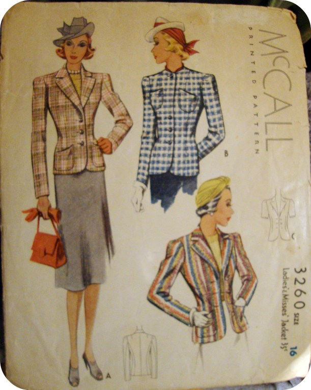 vintage pattern, tailored revers
