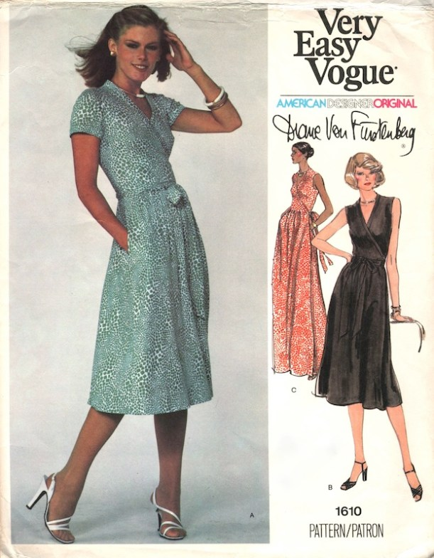 DVF wrap dress 1970s