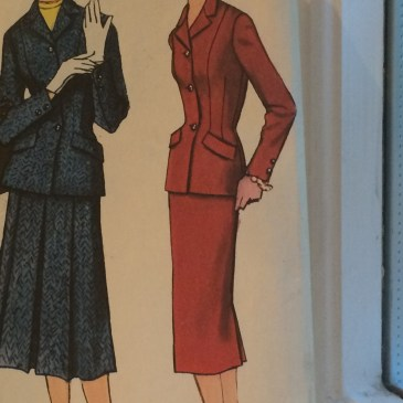 Making a 1950s jacket – fitting issues