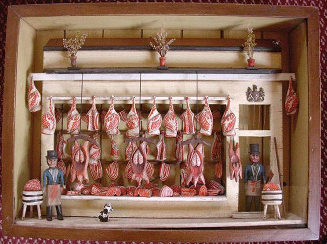 Making a butcher's shop
