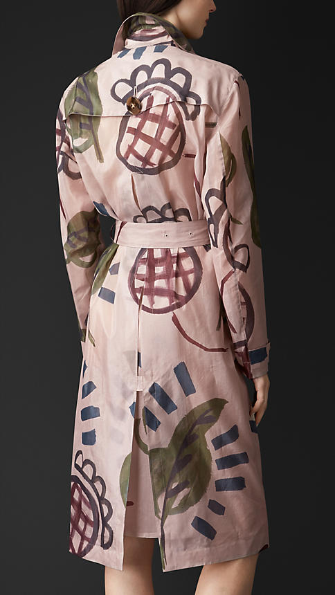 Burberry trench hand painted