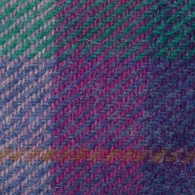 Purple and turquoise Harris tweed