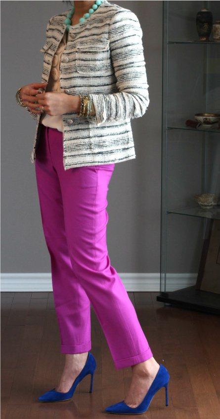 Experimenting with tailored trousers