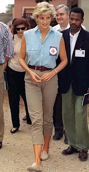 Princess Diana in trousers
