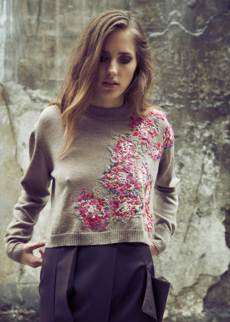 Laura Helen Searle embroidered jumper 1