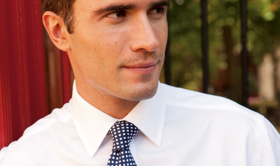 man in shirt and tie
