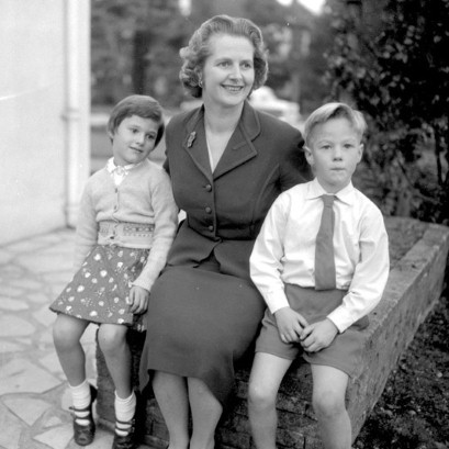 Mrs Thatcher in 1958 suit