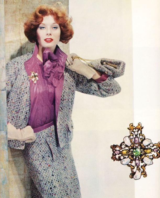 Chanel jacket and blouse advert