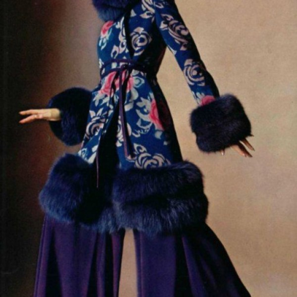 Dior Fur coat dress and trousers 1974