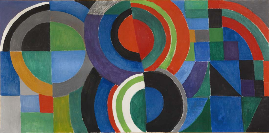 "Sonia Delaunay (1885-1979). ""Rythme couleur"". Huile sur toile. 1964."